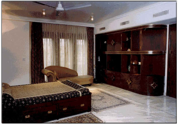 The Design Of Master Bedroom With Its White Marble Floors Oriental Rugs And Dark Rosewood Furniture Portrays A Serenity Known To India From Days